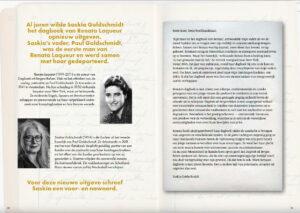 Pagina 1 met informatie over Dagboek uit Bergen-Belsen