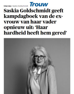 Interview Trouw Saskia Goldschmidt - 1 mei 2021